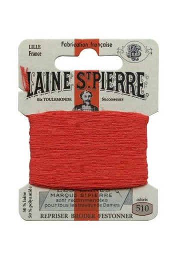 Laine Saint-Pierre 10 m card darning / embroidery 510 Red