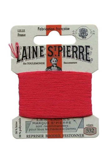Laine Saint-Pierre 10 m card darning / embroidery 532 Raspberry