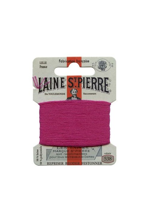 Laine Saint-Pierre 10 m card darning / embroidery 538 Fuchsia
