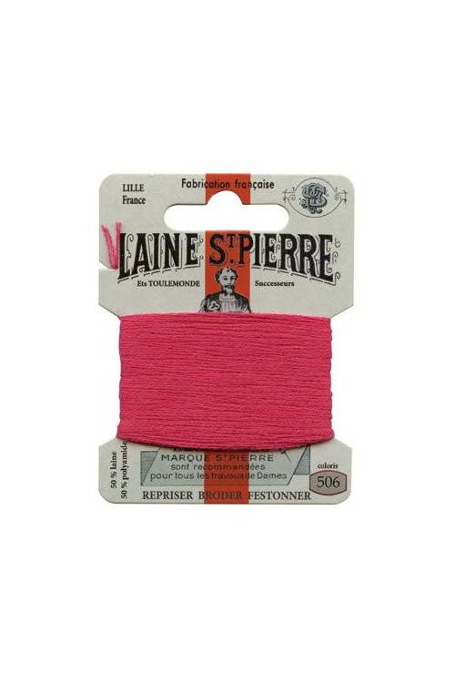 Laine Saint-Pierre 10 m card darning / embroidery 506 Cherry