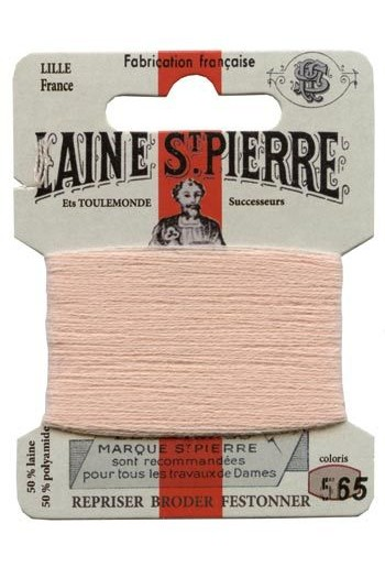 Carte Laine Saint-Pierre pour broder / repriser n°565 Chair