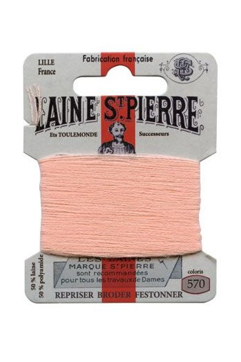 Laine Saint-Pierre 10 m card darning / embroidery 570 Salmon