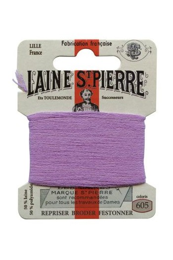 Laine Saint-Pierre 10 m card darning / embroidery 605 Mauve