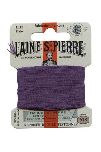 Laine Saint-Pierre 10 m card darning / embroidery 618 Blackcurrent