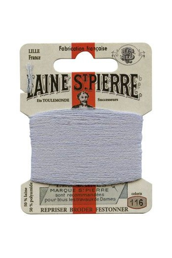 Laine Saint-Pierre 10 m card darning / embroidery 116 Light Grey