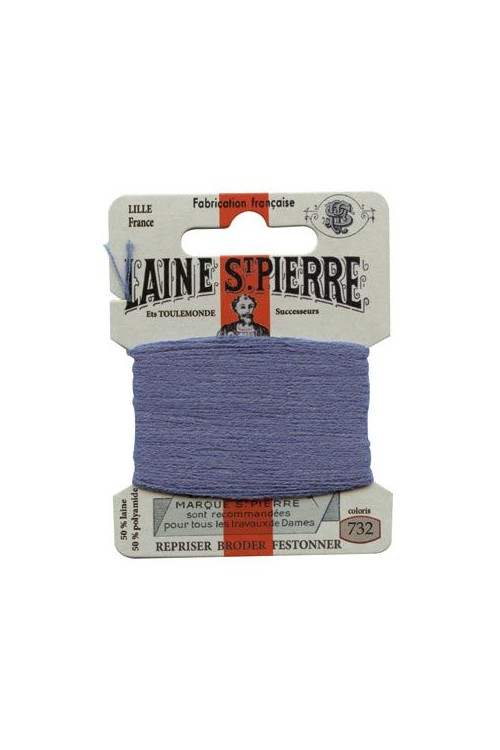 Laine Saint-Pierre 10 m card darning / embroidery 732 Gauloise Blue