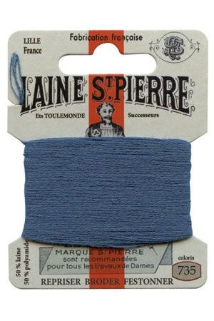 Laine Saint-Pierre 10 m card darning / embroidery 735 Enamel Blue