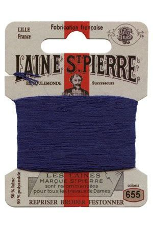 Laine Saint-Pierre 10 m card darning / embroidery 655 Royal Blue