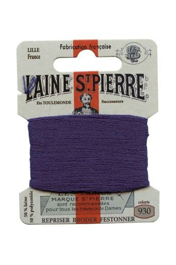 Laine Saint-Pierre 10 m card darning/ embroidery 930 Marble Blue