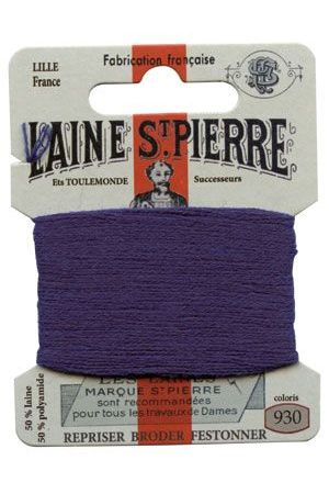 Laine Saint-Pierre 10 m card darning / embroidery 930 Marble Blue