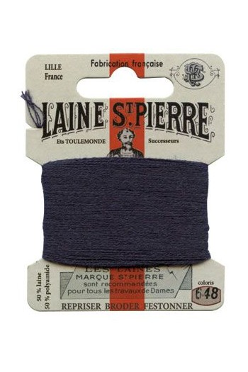 Laine Saint-Pierre 10 m card darning / embroidery 648 Navy