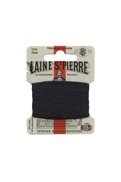 Laine Saint-Pierre 10 m card darning / embroidery 645 Dark Navy