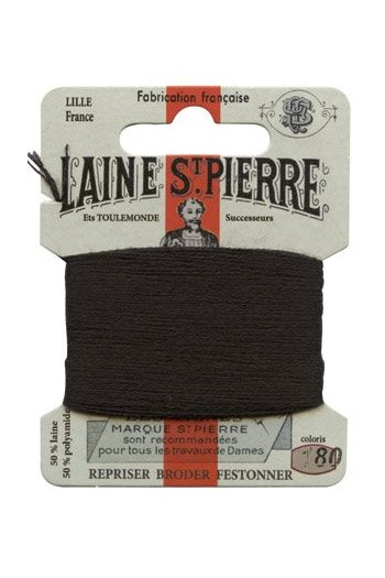 Laine Saint-Pierre 10 m card darning / embroidery 180 Black