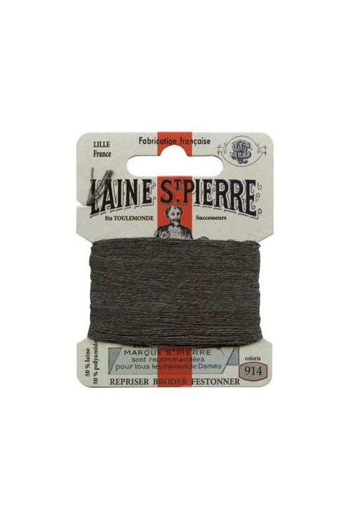 Laine Saint-Pierre 10 m card darning / embroidery 914 Slate