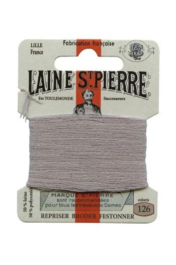 Laine Saint-Pierre 10 m card darning / embroidery 126 Dust