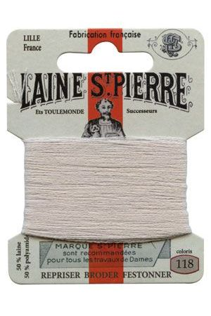 Laine Saint-Pierre 10 m card darning / embroidery 118 Kaolin