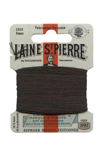 Laine Saint-Pierre 10 m card darning / embroidery 890 Dark Green