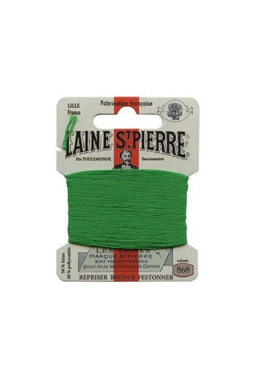 Laine Saint-Pierre 10 m card darning / embroidery 868 Lawn Green