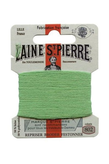 Laine Saint-Pierre 10 m card darning / embroidery 802 Pistachio