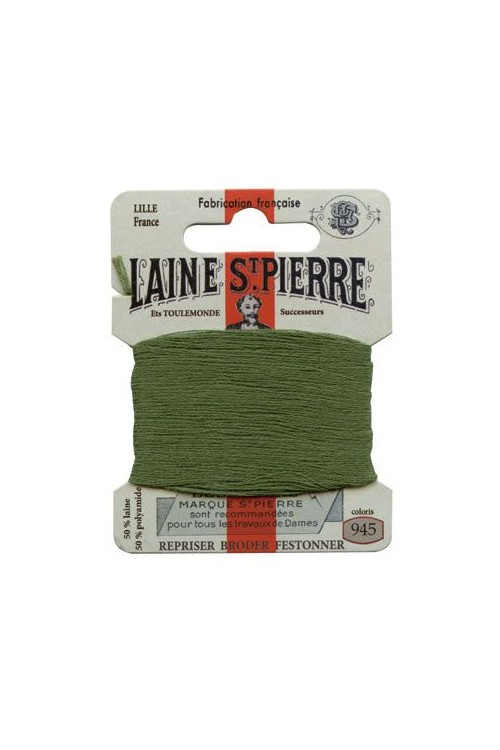 Laine Saint-Pierre 10 m card darning / embroidery 945 Shetland Green