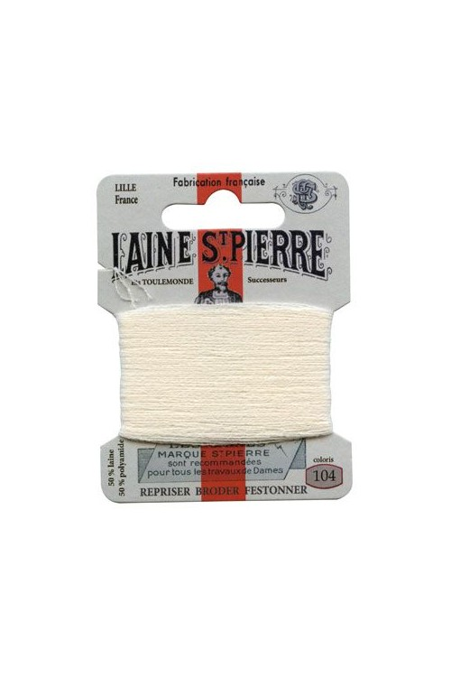 Laine Saint-Pierre 10 m card darning / embroidery 104 Cream