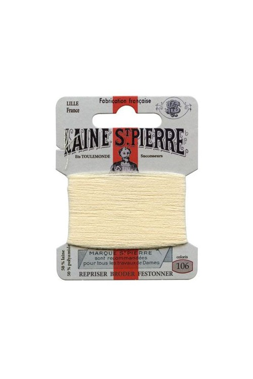 Laine Saint-Pierre 10 m card darning / embroidery 106 Ceruse