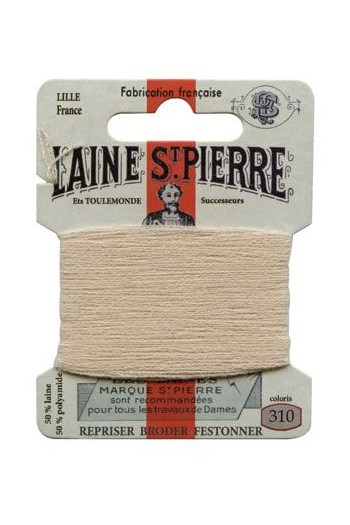 Carte Laine Saint-Pierre pour broder / repriser n°310 Beige normal