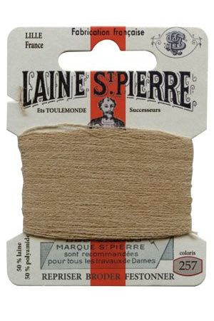 Laine Saint-Pierre 10 m card darning / embroidery 257 Light Beige