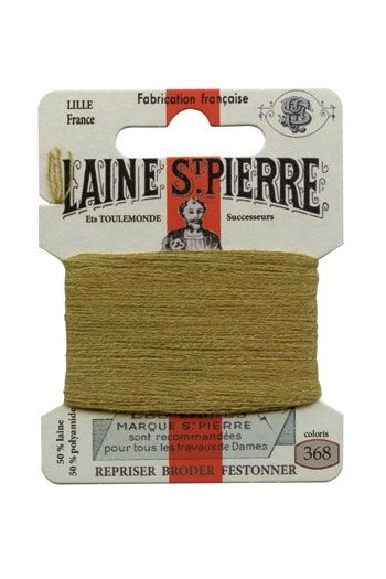 Laine Saint-Pierre 10 m card darning / embroidery 368 Ocre
