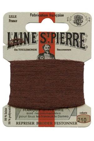 Laine Saint-Pierre 10 m card darning / embroidery 210 Otter