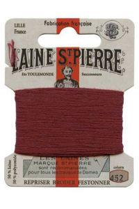 Laine Saint-Pierre 10 m card darning / embroidery 452 Garnet