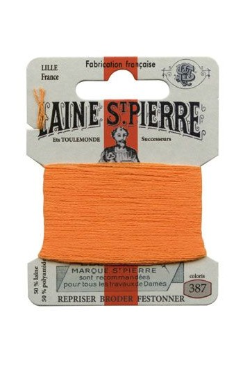 Laine Saint-Pierre 10 m card darning / embroidery 387 Mandarine