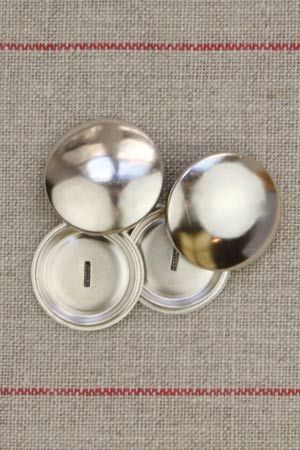 Metal buttons to cover - Size 28mm
