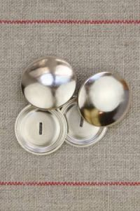Metal buttons to cover  28 mm