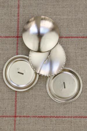 Metal buttons to cover - Size 38mm