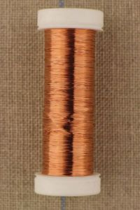 Spool fine metal thread Lebaufil copper colour