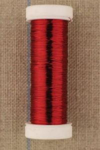Fine metal thread 0,20mm spool 20m colour red