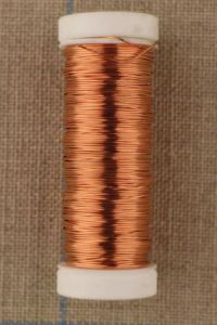 Spool of thick metal thread Lebaufil silver copper