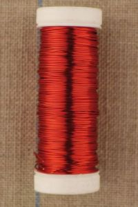 Thick metal thread 0.40mm spool 20m colour red