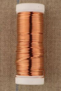 Extra thick metal thread 0.60mm  spool 15m colour copper