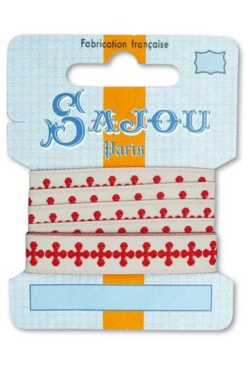 Ruban Sajou Collection Comptoir motif 1 carte un mètre