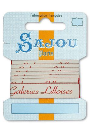 12 mm ribbon Comptoir Sajou Motif n°04 - 1m card