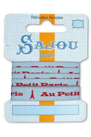 12 mm ribbon Comptoir Sajou Motif n°07 - 1m card