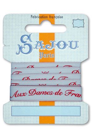 12 mm ribbon  Comptoir Sajou Motif n°08 - 1m card