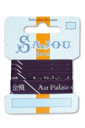 12 mm ribbon Comptoir Sajou Motif n°11 - 1m card