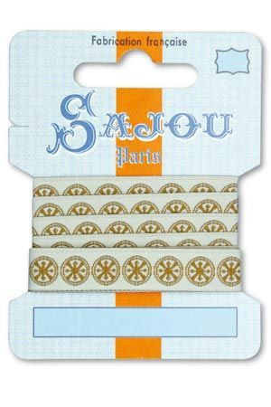12 mm ribbon  Comptoir Sajou Motif n°13 - 1m card