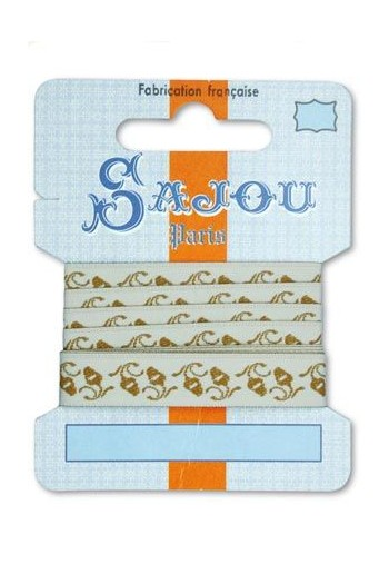Ruban Sajou Collection Comptoir motif 14 carte un mètre