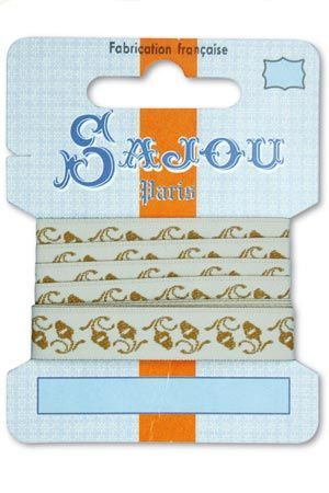 12 mm ribbon  Comptoir Sajou Motif n°14 - 1m card