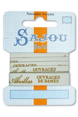 12 mm ribbon Comptoir Sajou Motif n°15 - 1m card
