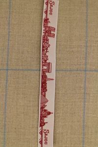 Sajou Paris red & white ribbon by the metre